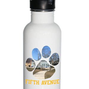 Fifth Avenue Tiger Paw 21oz Stainless Steel Water Bottle