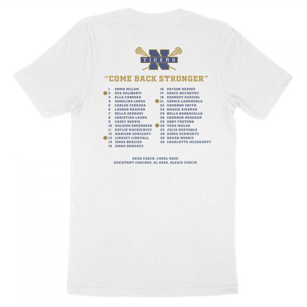 Girls LAX Undefeated Division 1 Champs Shirt - Back